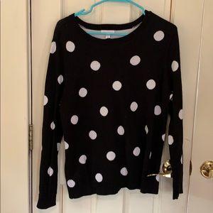 Black & White Polka Dot Charter Club Sweater P/XL